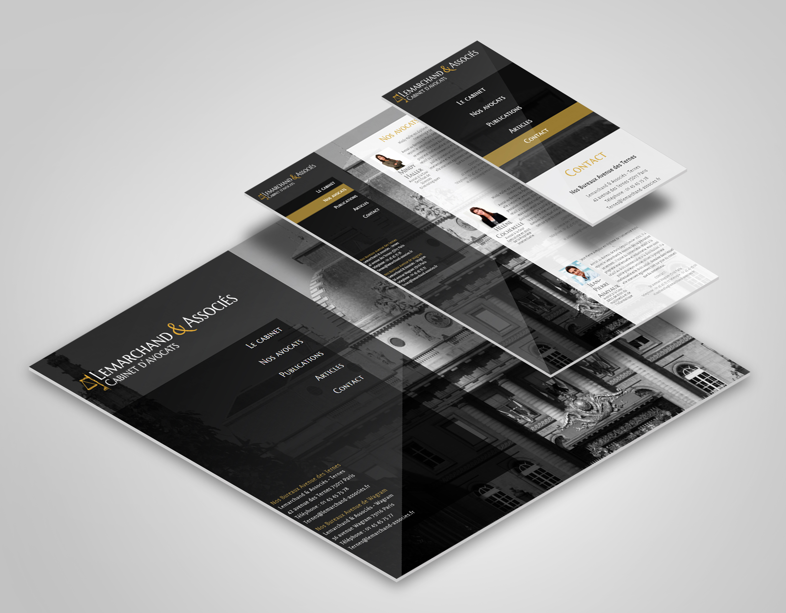 Lemarchand & associès UI design