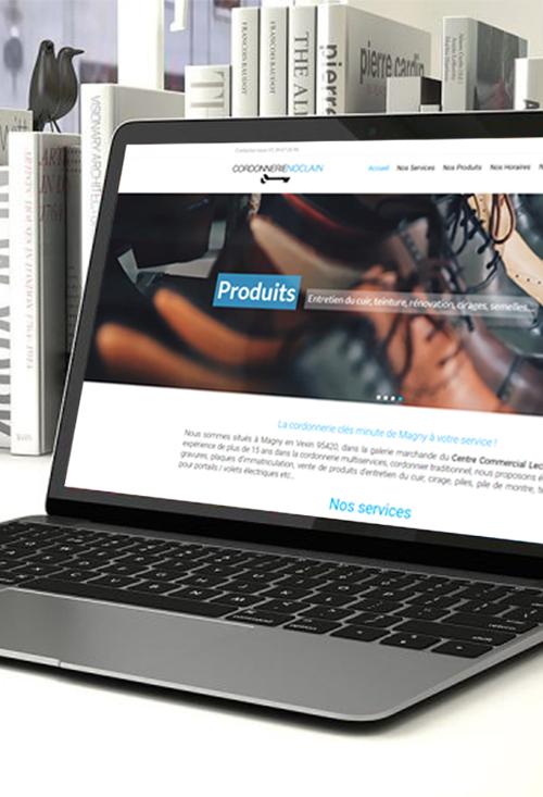 Site webdesign cordonnerie Noclain