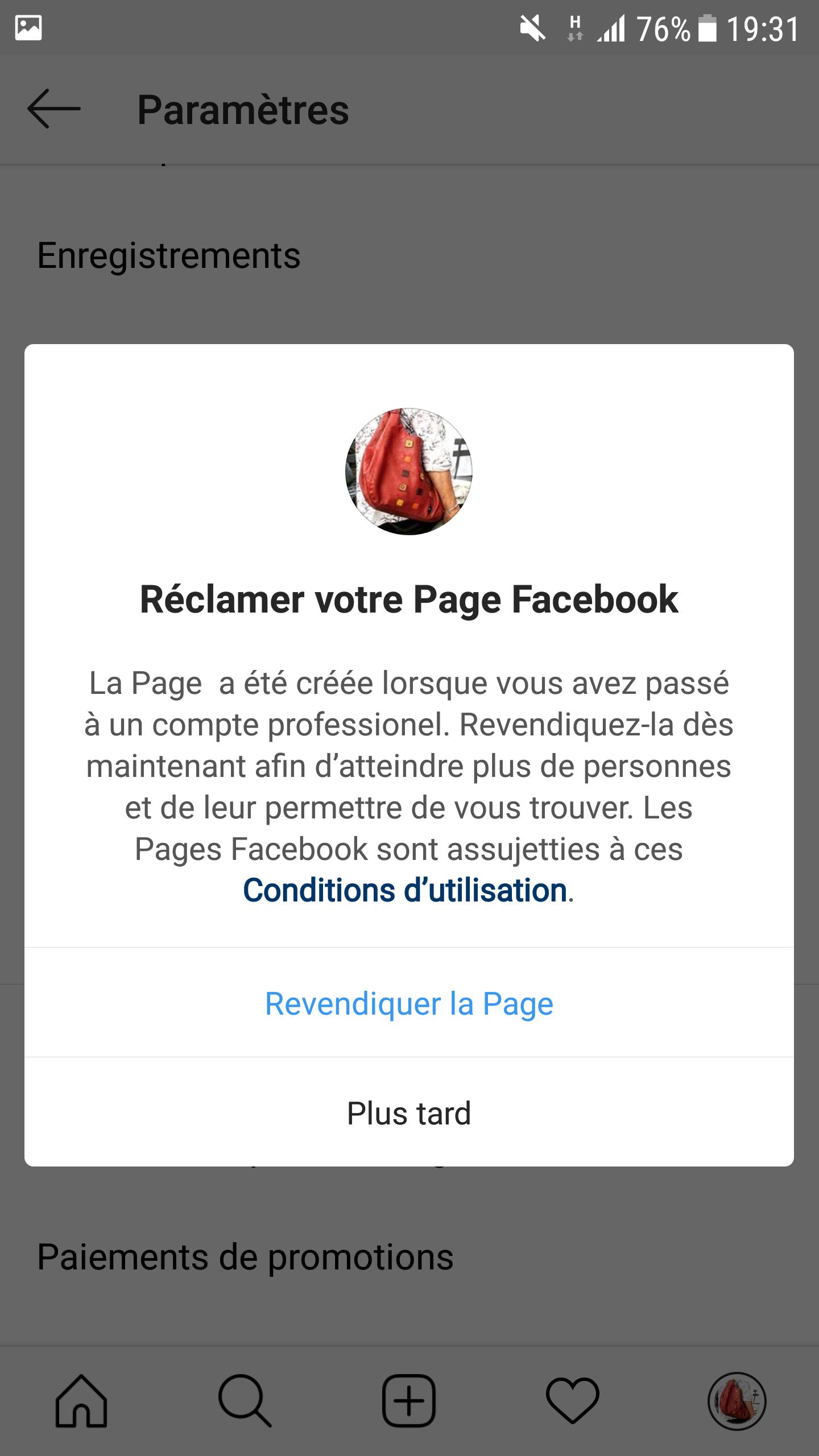 revendiquer page facebook1